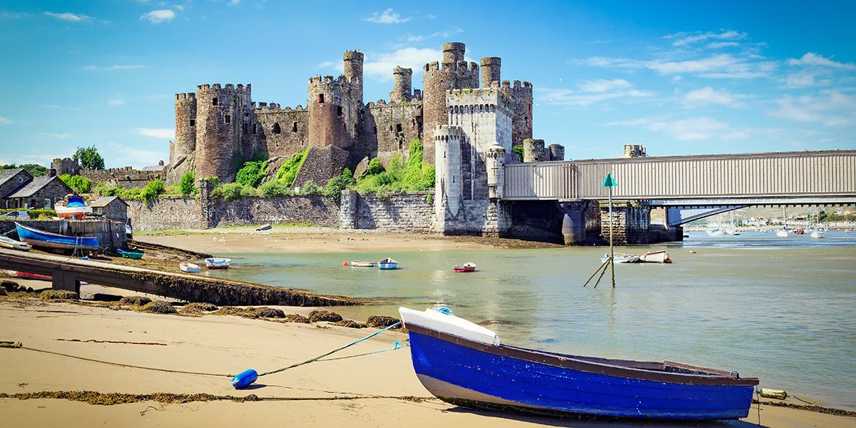 The impressive Conwy Castle overlooks the River Conwy