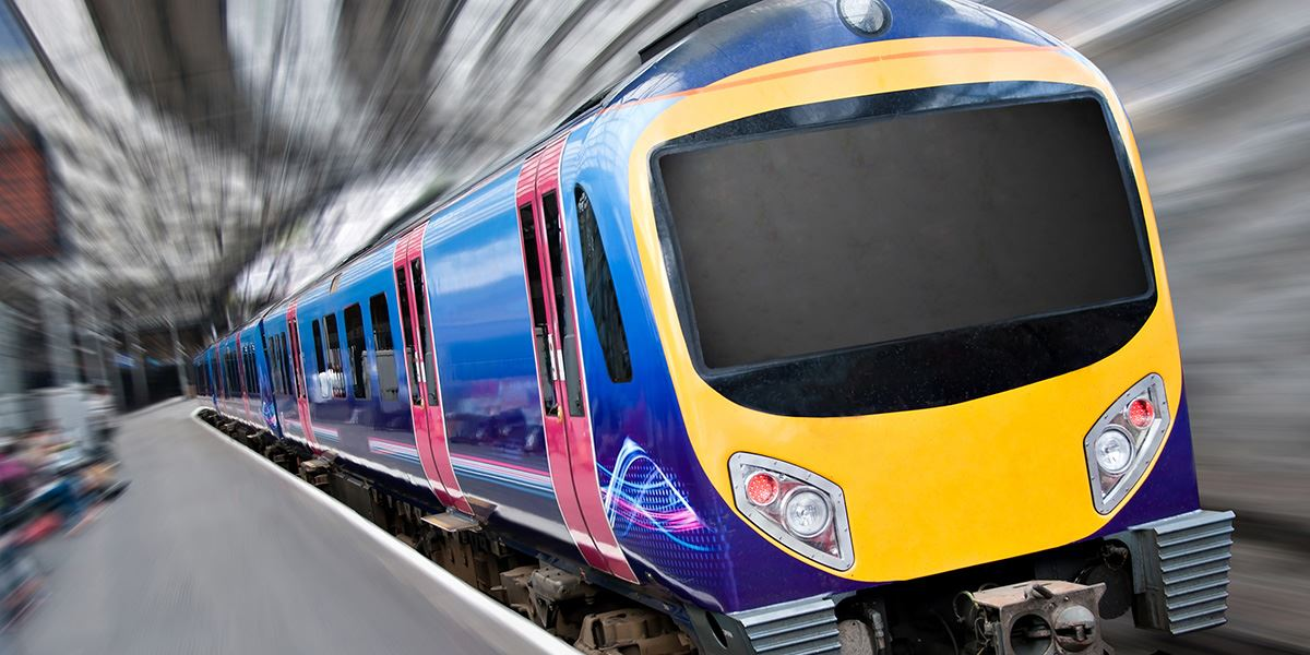 Train at the platform