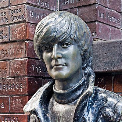 John Lennon statue outside the Cavern Club