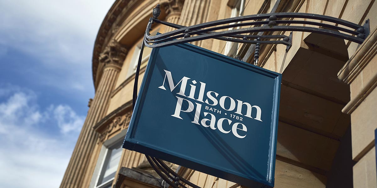 Milsom Place sign Bath