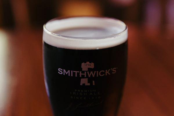 Fresh pint of Smithwick's stout