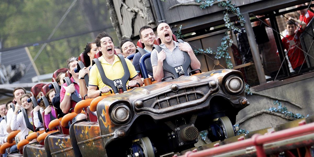 Rita rollercoaster ride at Alton Towers theme park in Staffordshire