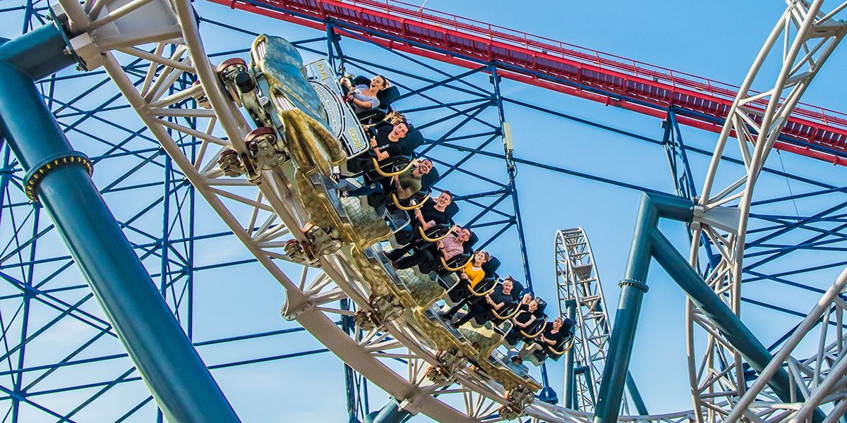 ICON rollercoaster at Blackpool Pleasure Beach