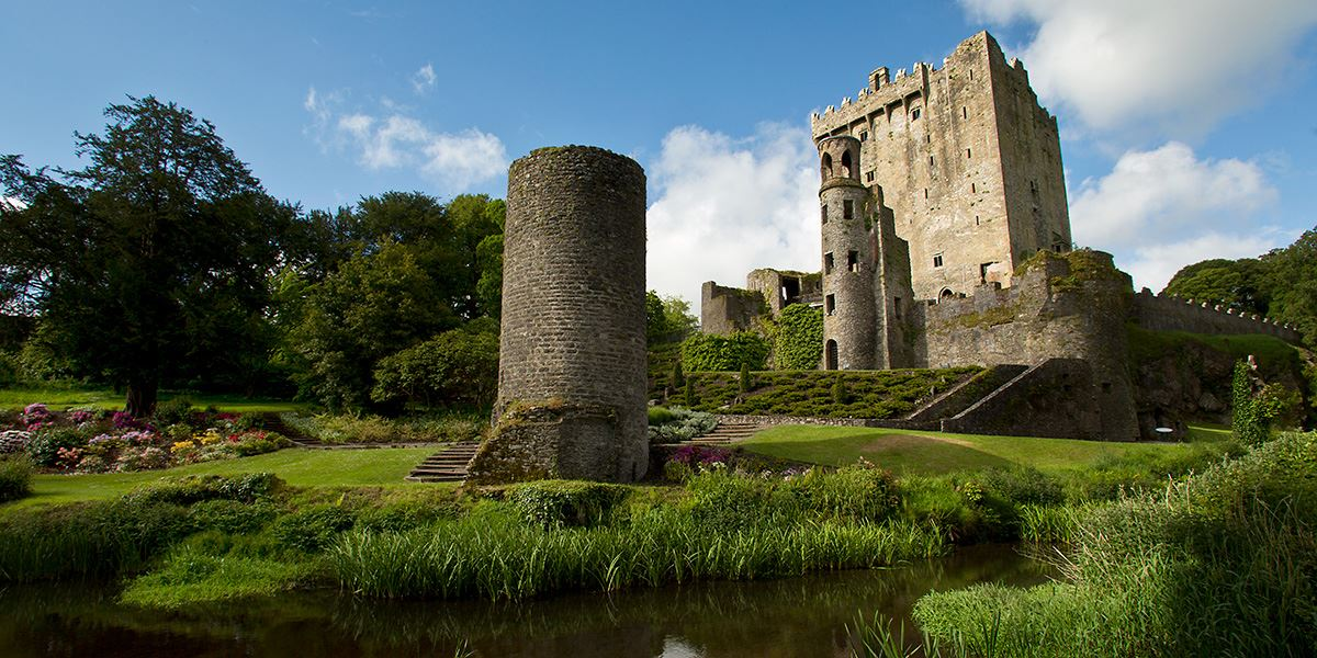 Ancient ruins of Blarney Castle in County Cork
