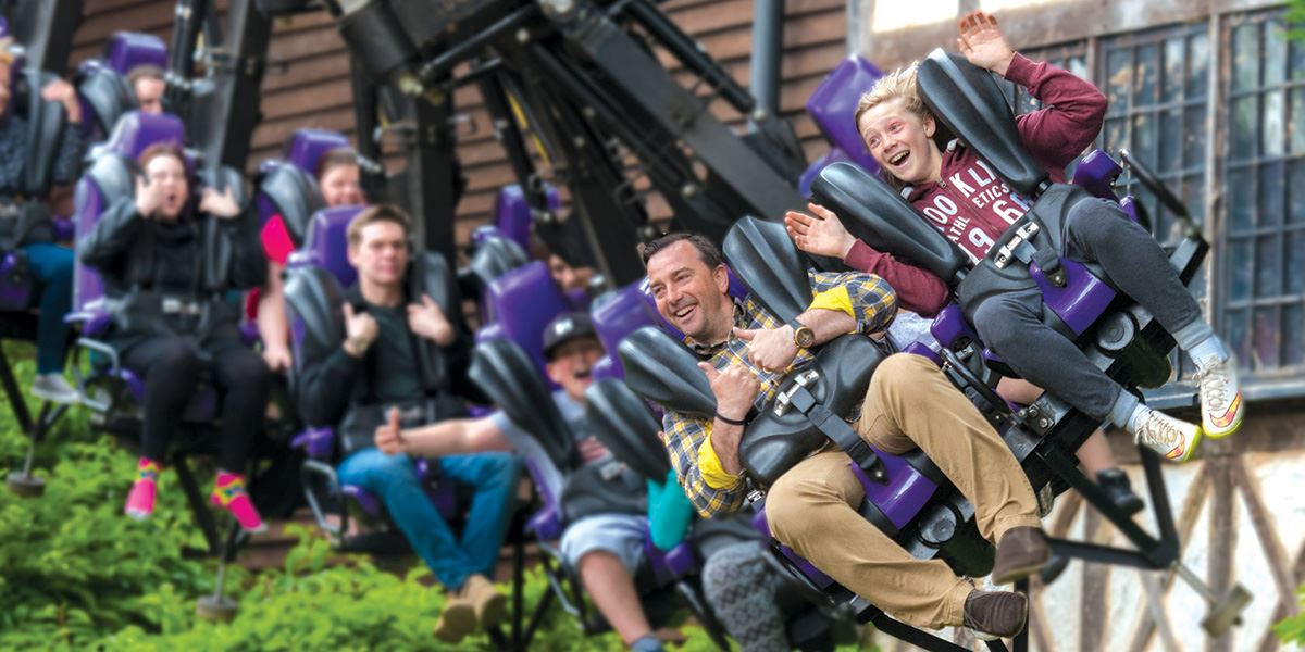 Vampire rollercoaster ride at Chessington World of Adventures in Surrey