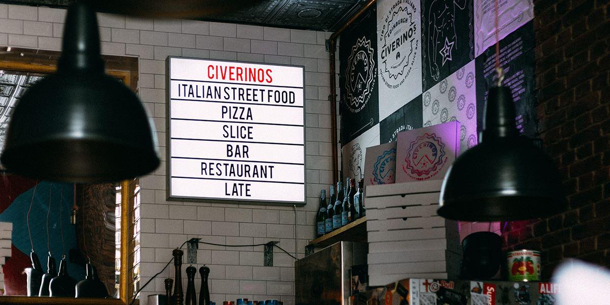 Civerinos Italian restaurant in Edinburgh