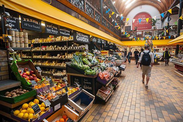 Fresh fruit and veg at Cork English Market