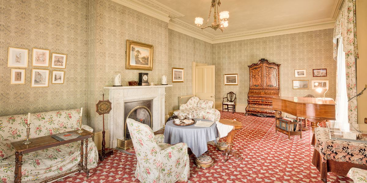 The restored Victorian house once lived in by Elizabeth Gaskell