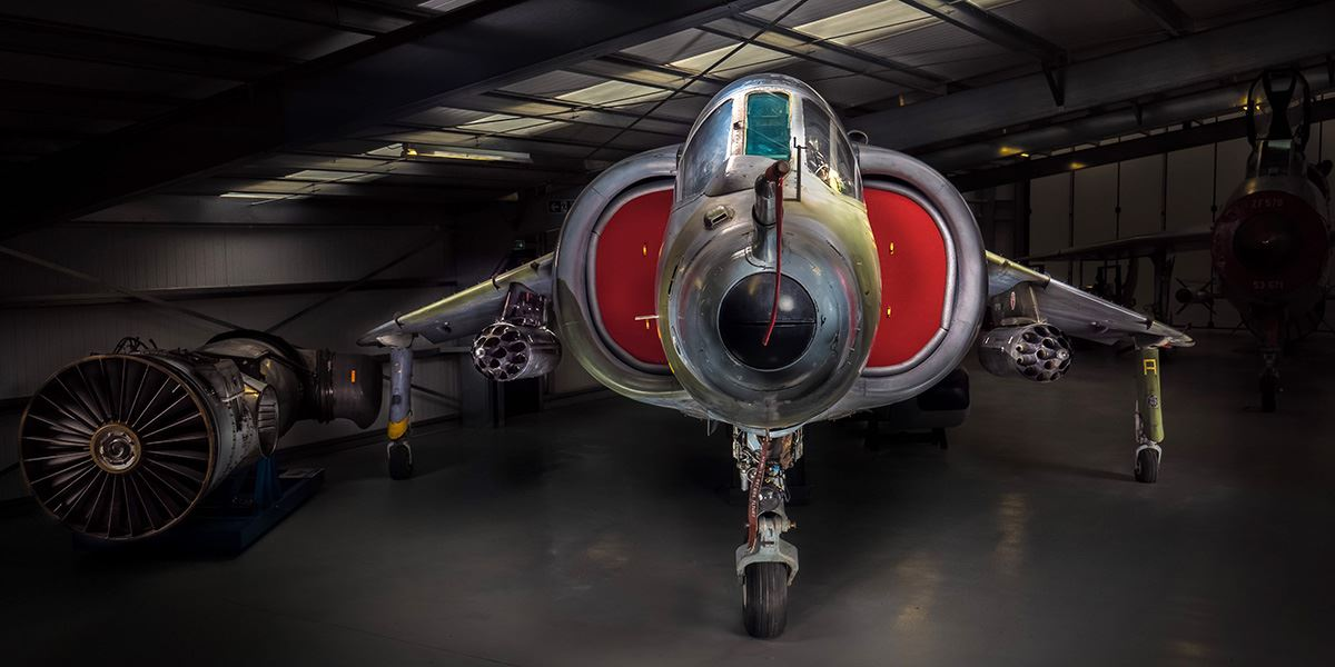 Hawker Harrier G.R.3 at Gatwick Aviation Museum