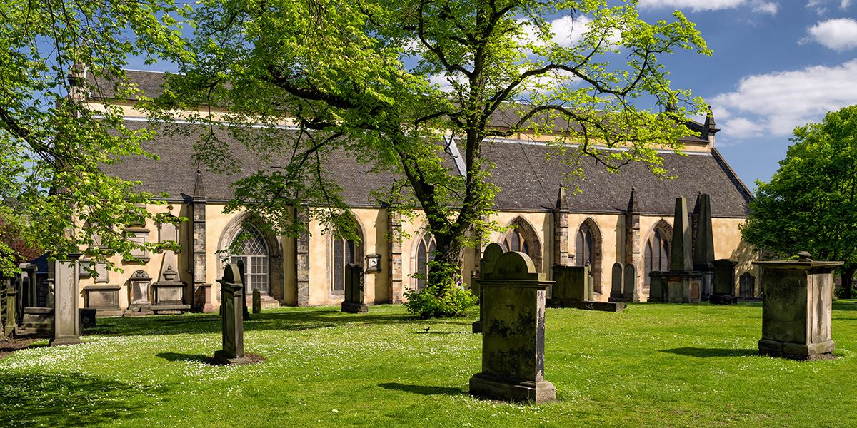 Greyfriars Kirkyard lies in the heart of the Old Town in Edinburgh