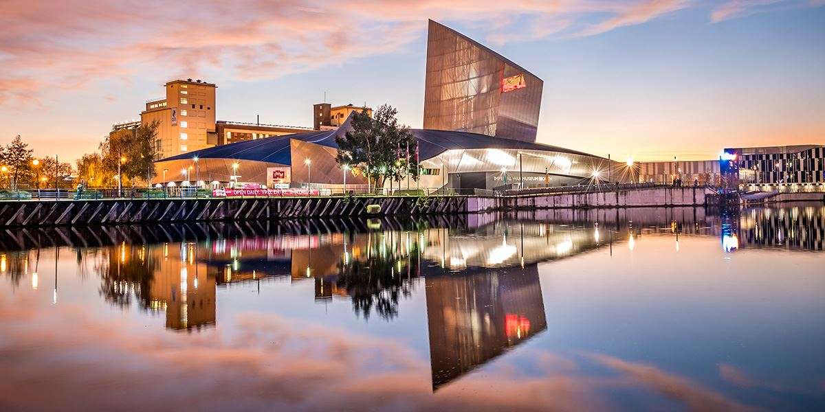 Imperial War Museum North at Salford Quays in Manchester