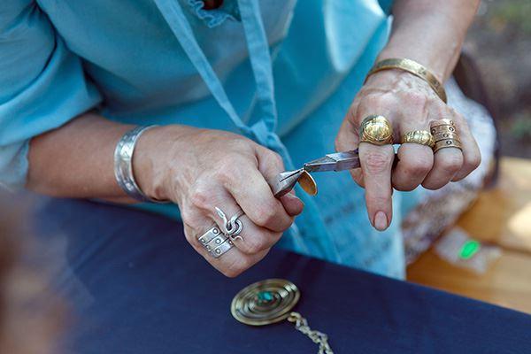 Making jewellery in a workshop