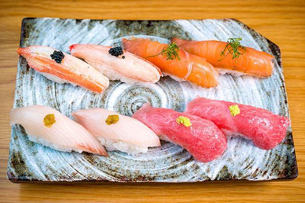 Sushi at Kanpai Japanese restaurant in Edinburgh