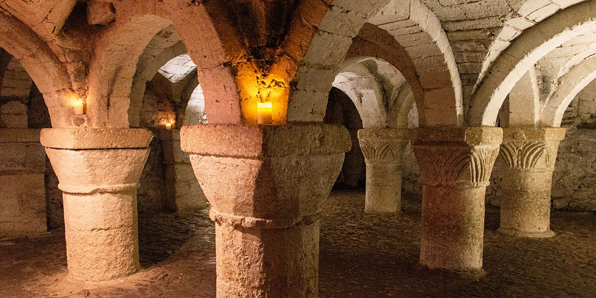 The crypt in Oxford Castle and Prison