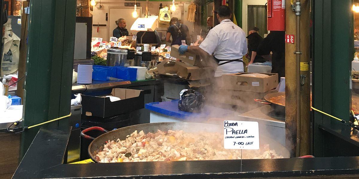 Street food at Borough Market London