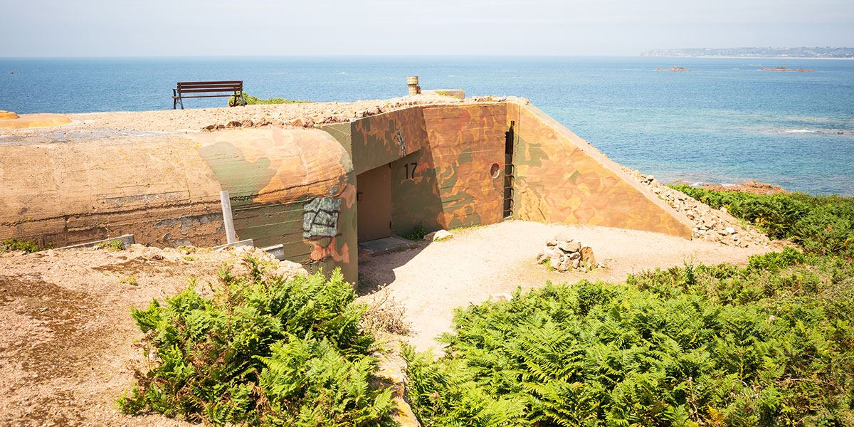 World War 2 bunker near La Corbiere, Jersey