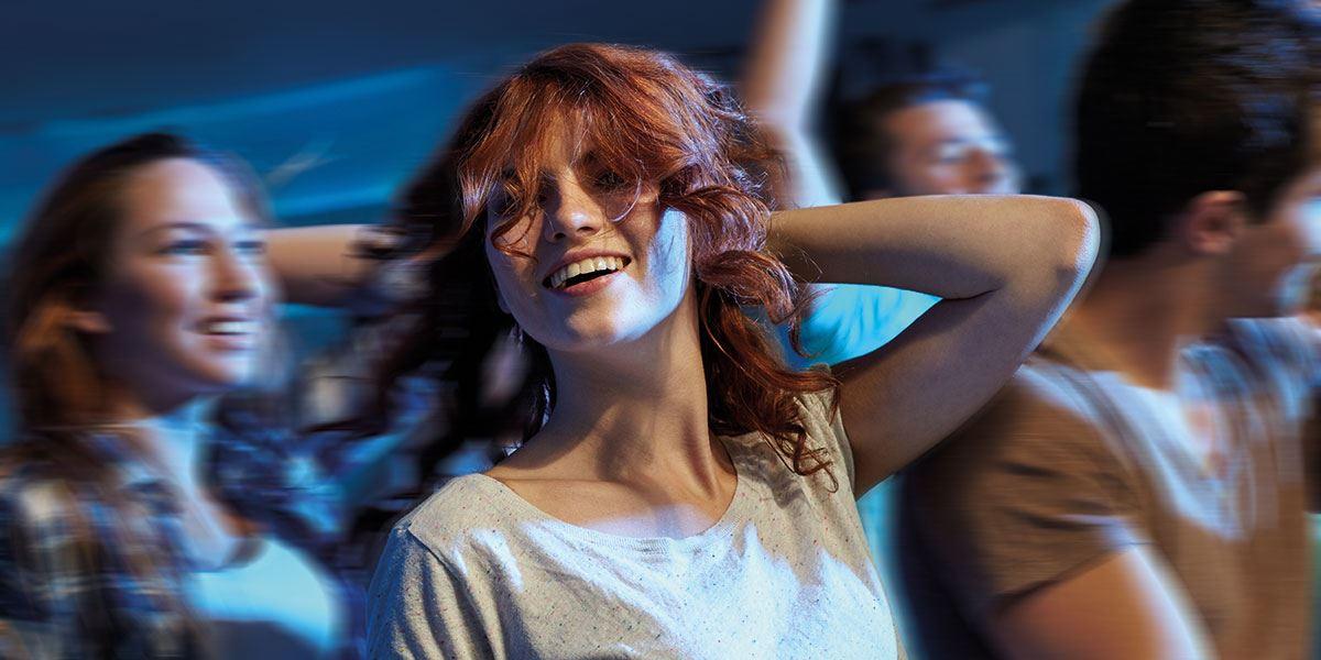 Girl in nightclub