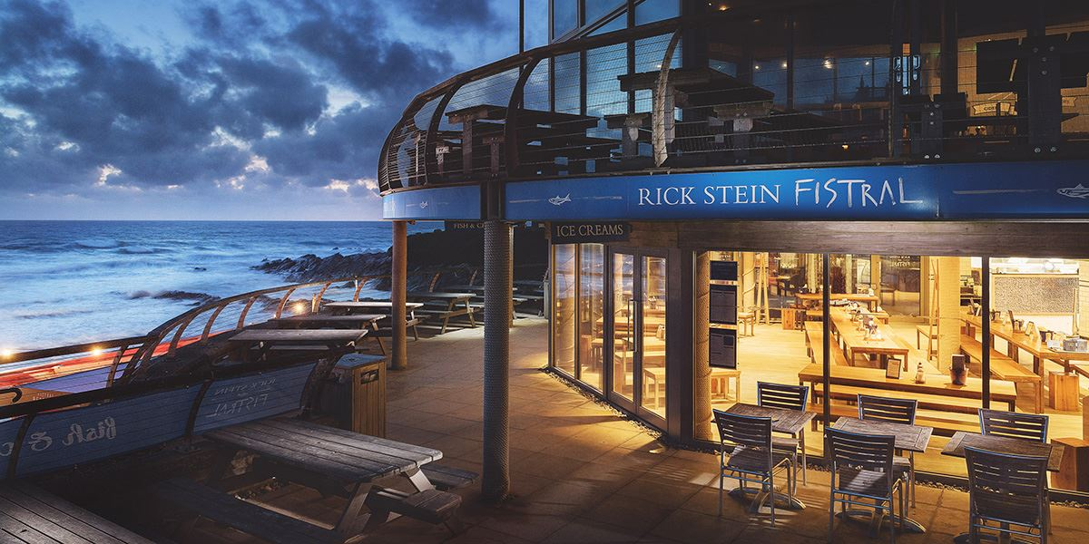 Rick Stein's Fistral restaurant overlooks Fistral Beach in Newquay