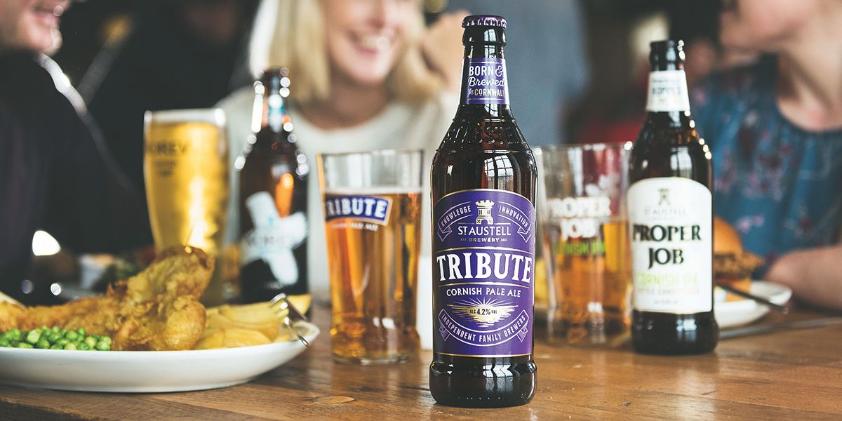 St Austell Brewery beers and food