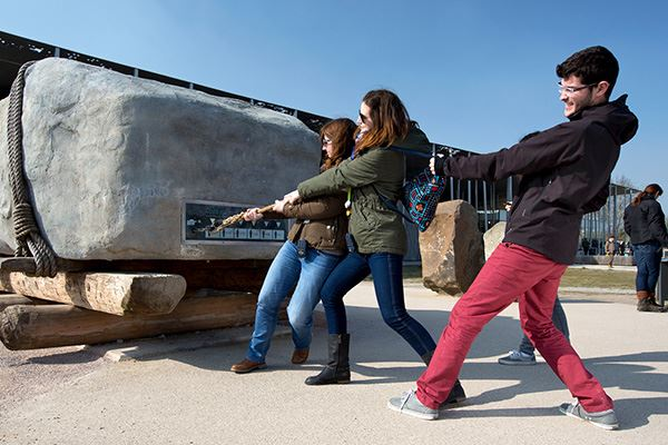 Stonehenge Visitor Centre offers hands-on exhibitions