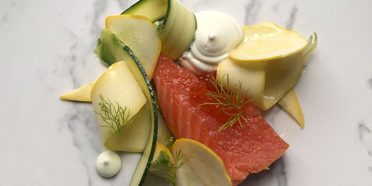 Fish dish at Bastion Michelin-starred restaurant in Kinsale, County Cork