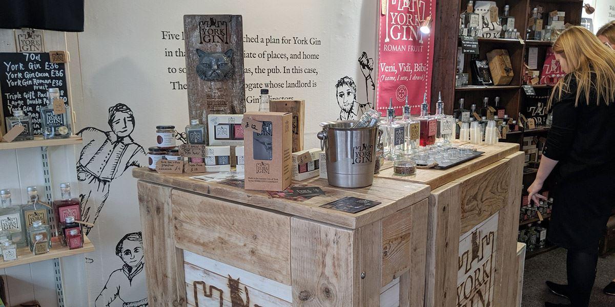 York Gin specialty gin shop in York
