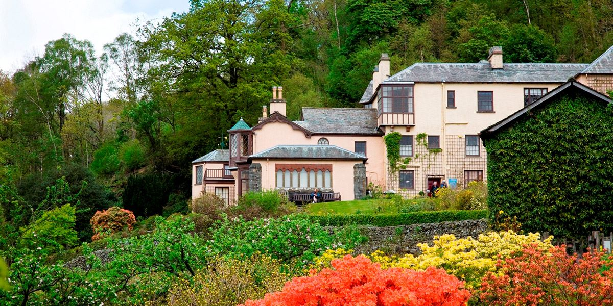 Brantwood House overlooking Coniston Water in the Lake District