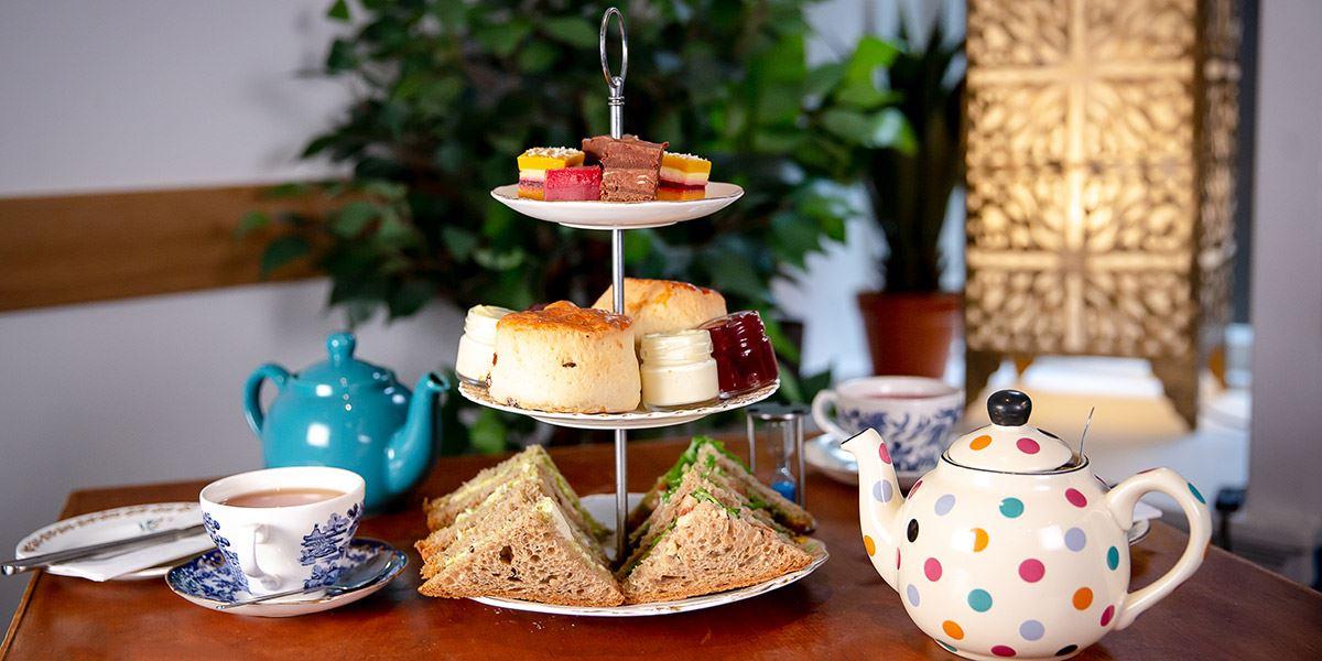 Afternoon tea at Eteaket cafe in Edinburgh