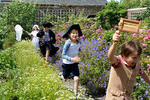 Kids dressing up at poet William Wordsworth's childhood home in Cockermouth