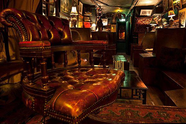 Interior of Black Dove bar Brighton