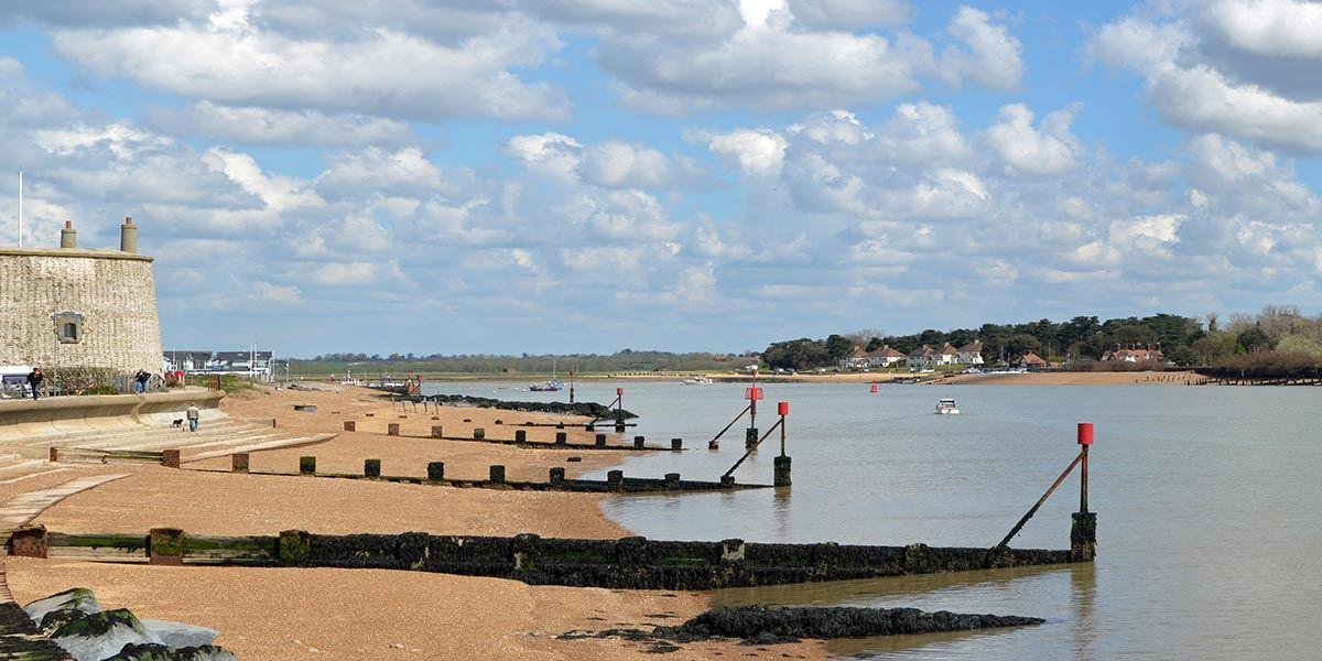 Felixstowe beach, Suffolk