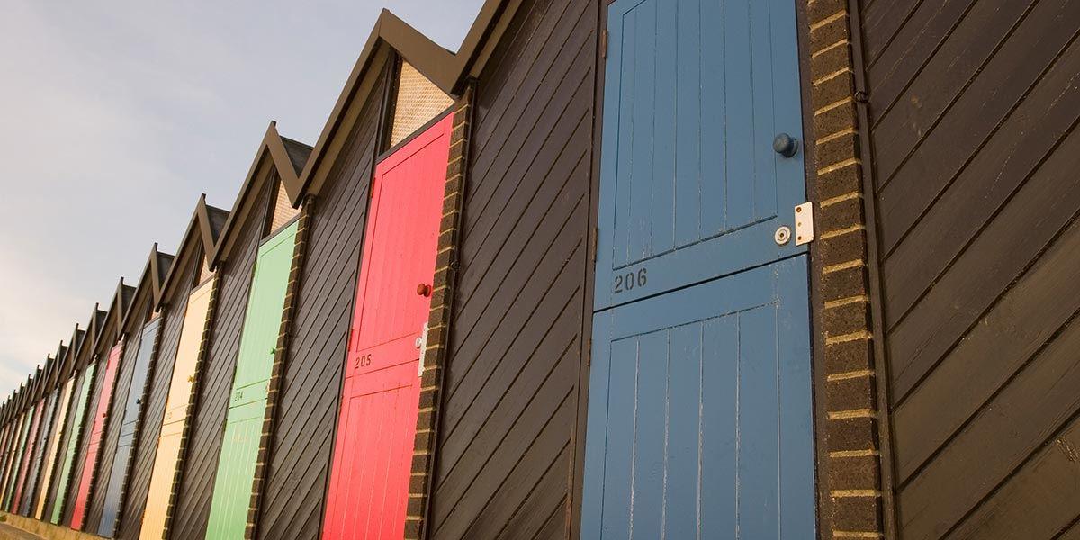 Lowestoft beach huts, Suffolk