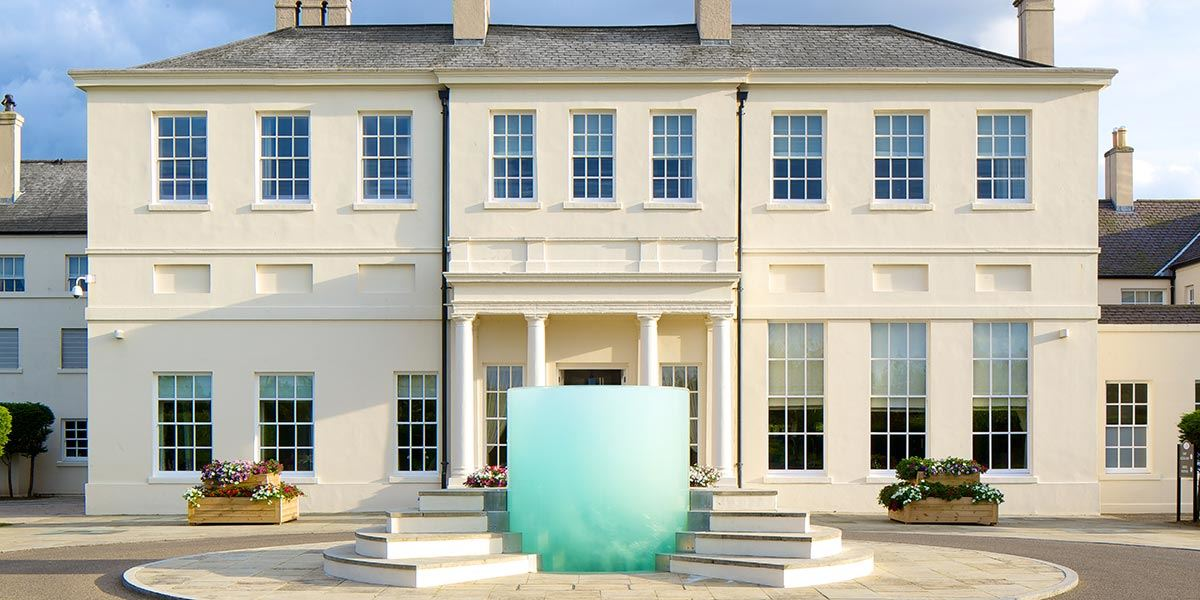 Front entrance to Seaham Hall boutique hotel