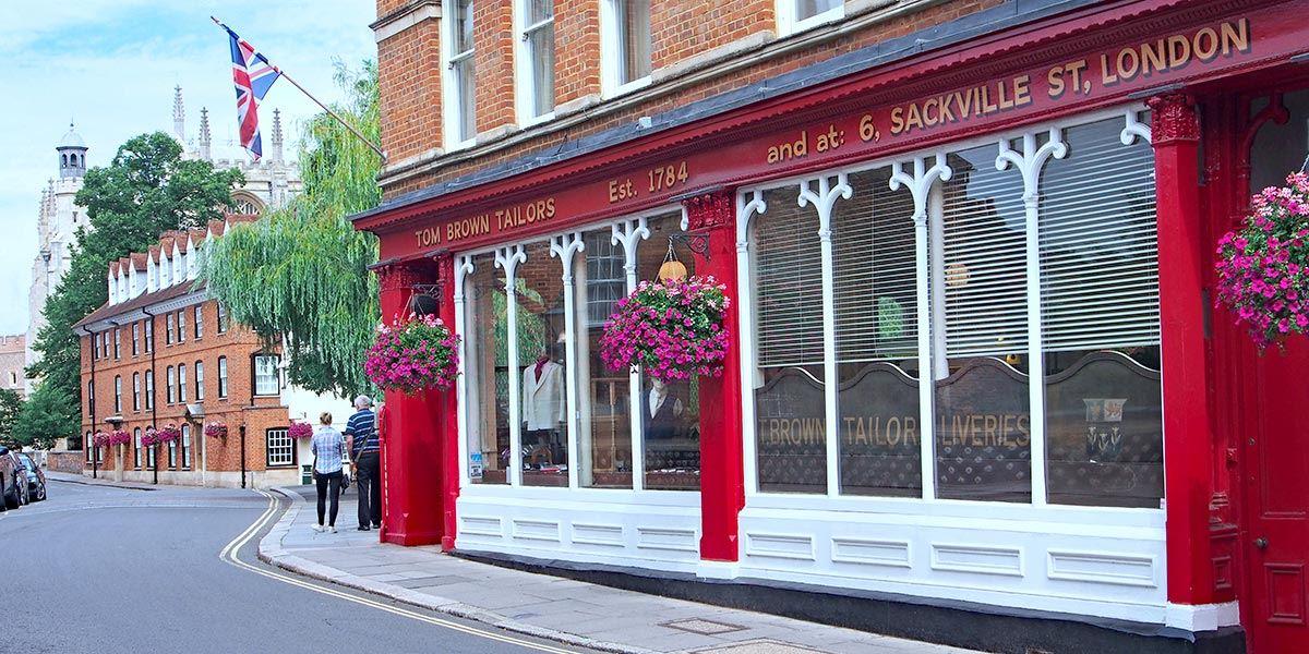 Tom Brown Tailors shop front in Eton