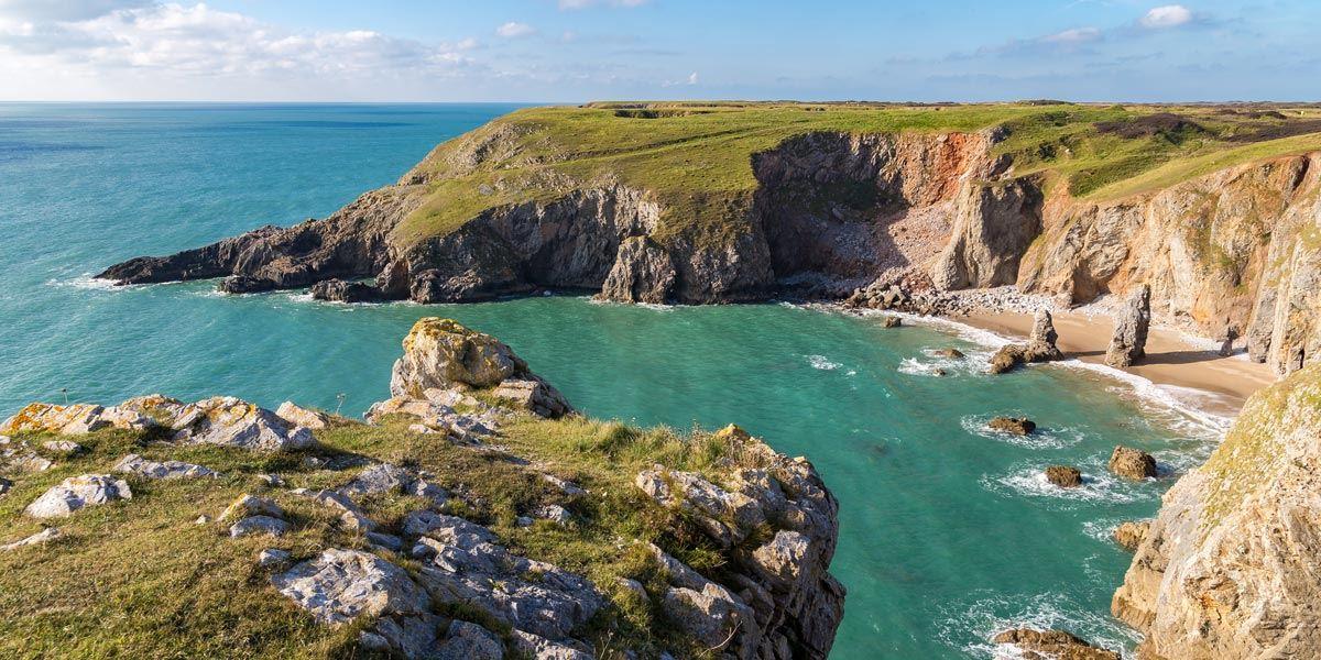 Flimston-Bay in Pembrokeshire