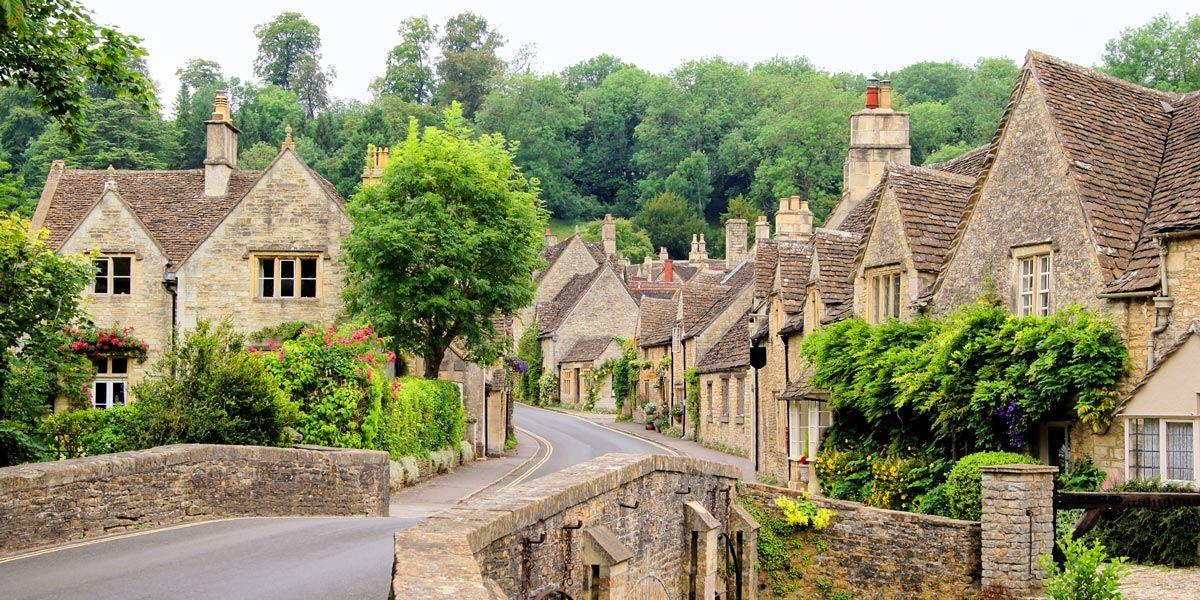 Castle Combe village in Wiltshire