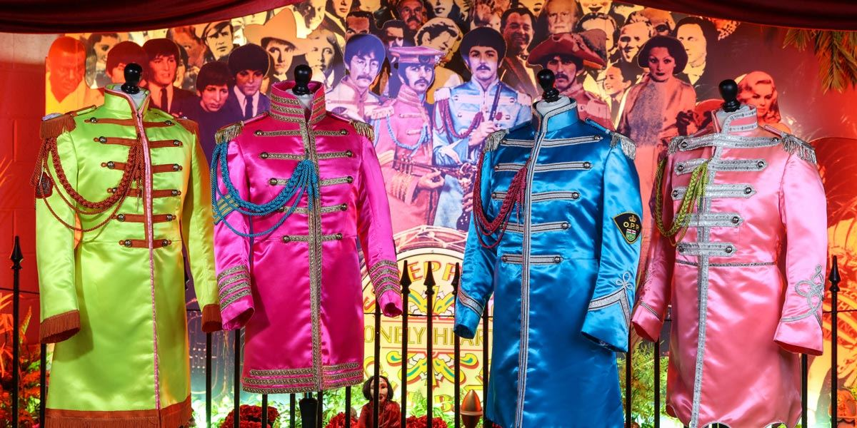 Iconic Beatles outfits at The Beatles Story