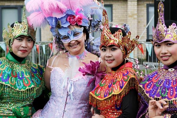 Exquisite festival costumes at Cowley Road Carnival