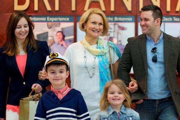 Family at the Royal Yacht Britannia