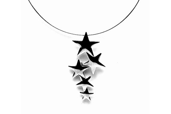 A sterling silver Five Star Pendant, made by Claire Chapman at The Glamorous Owl