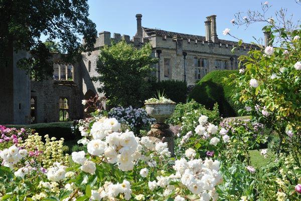 Sudeley Castle from Queens Garden in Gloucestershire