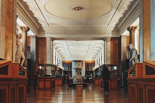 Interior of the British Museum, London