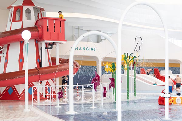 Splash Waterworld swimming pool at Butlin's in Bognor Regis
