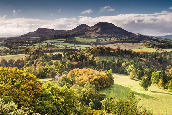 Eildon Hills in the Scottish Borders