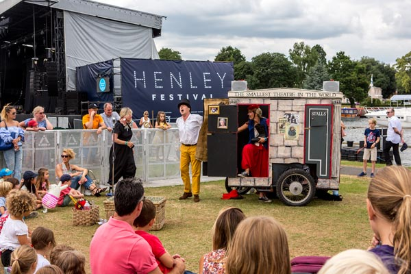 Henley Festival situated alongside the River Thames in Oxfordshire