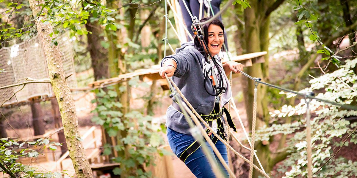 Ropes course at Go Ape Maften