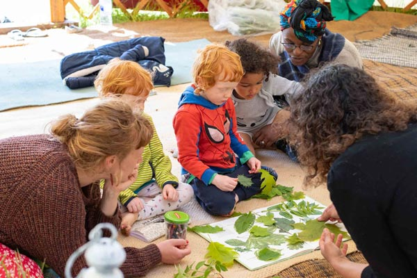 Kids involved with lots of fun activities at Wilderlands Festival in West Sussex
