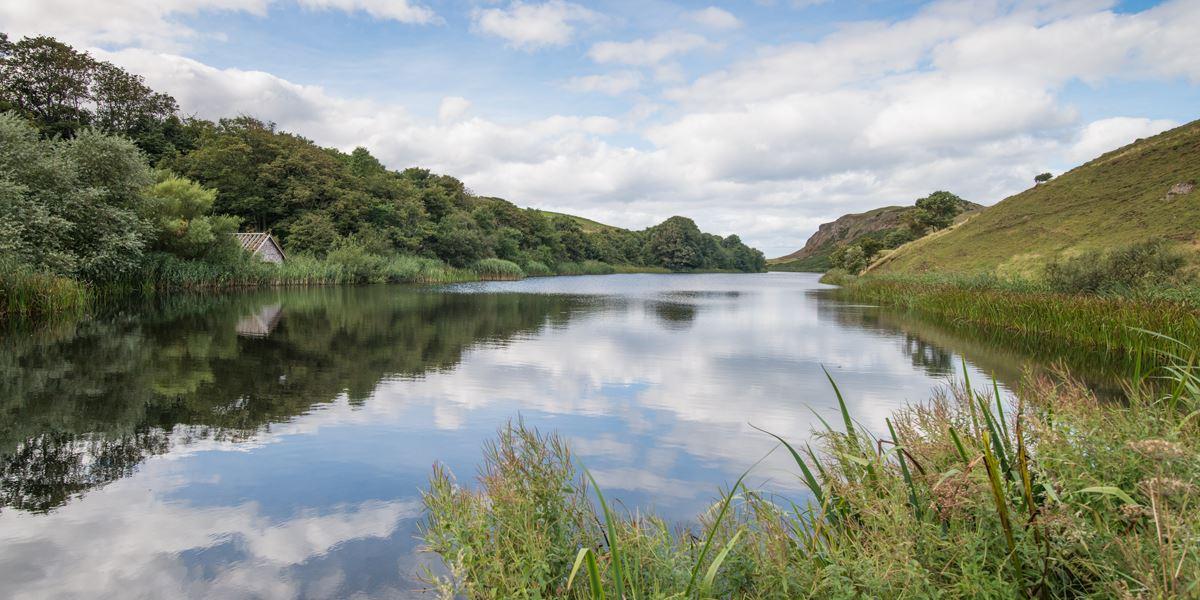 Mire Loch near St Abb's Head in the Scottish Borders