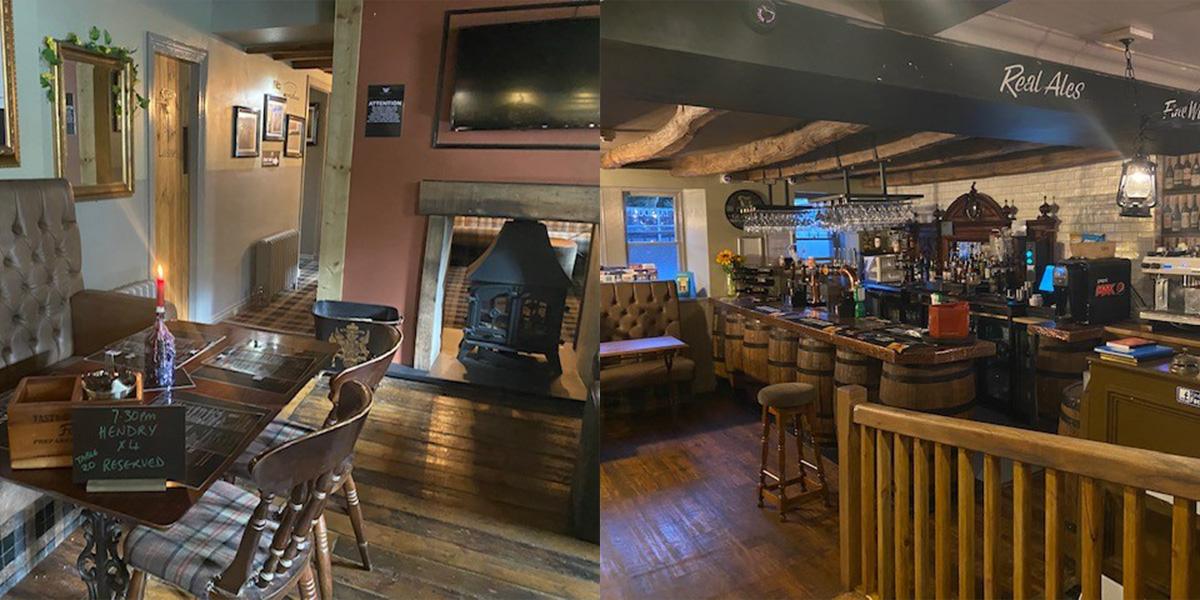 The Black Bull, Moffat, bar and restaurant areas