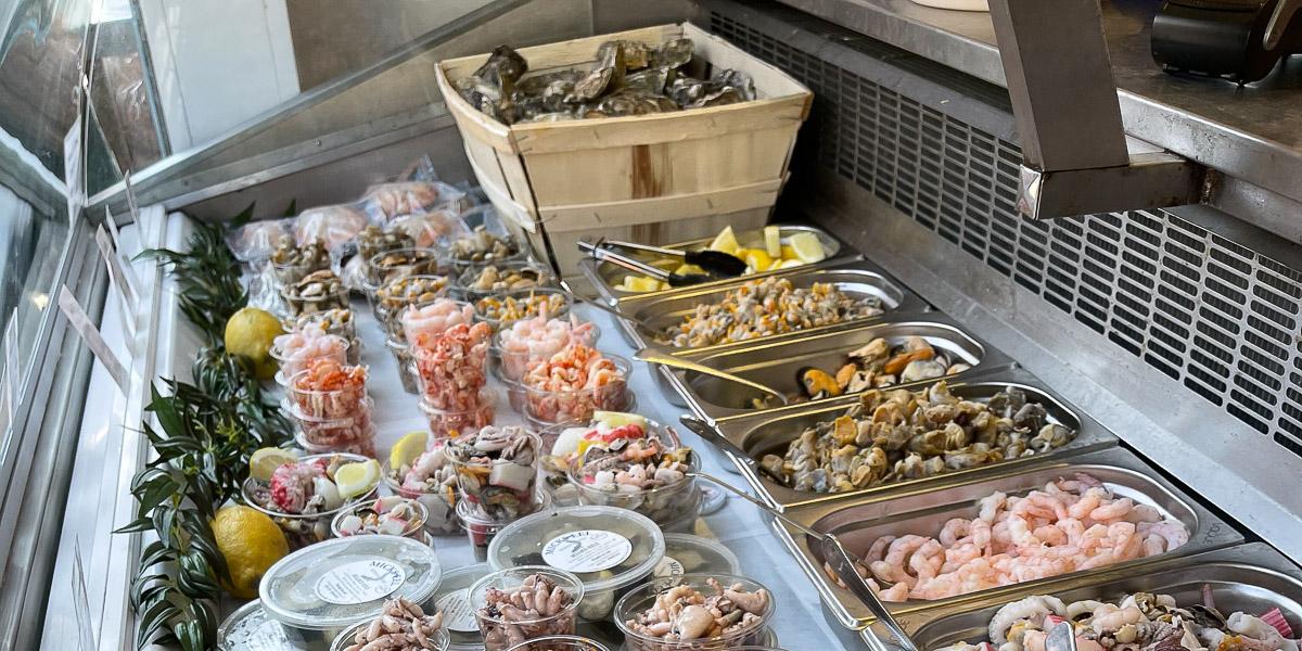 Brighton Shellfish and Oyster Bar window dispay